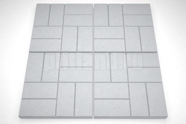 8 кирпичей 30мм вибролитье серый
