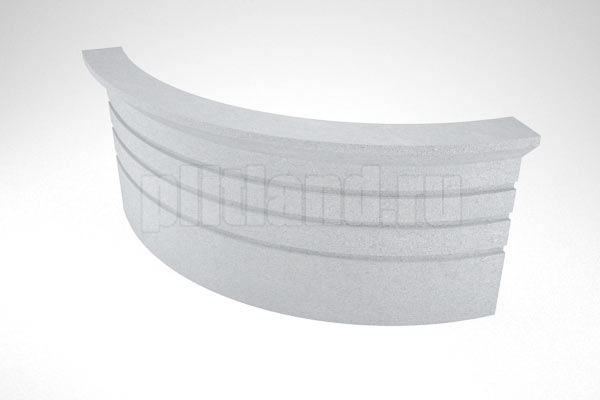 элемент 4 - подступенок угловой вибролитье серый