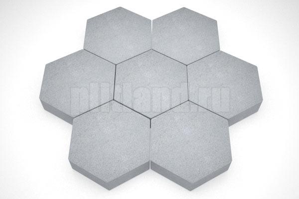 шестигранник серый вибропресс
