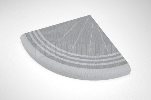 элемент 2 - ступень угловая  вибролитье серый